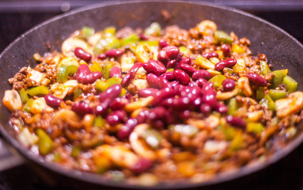 The beans add a great texture to the dish